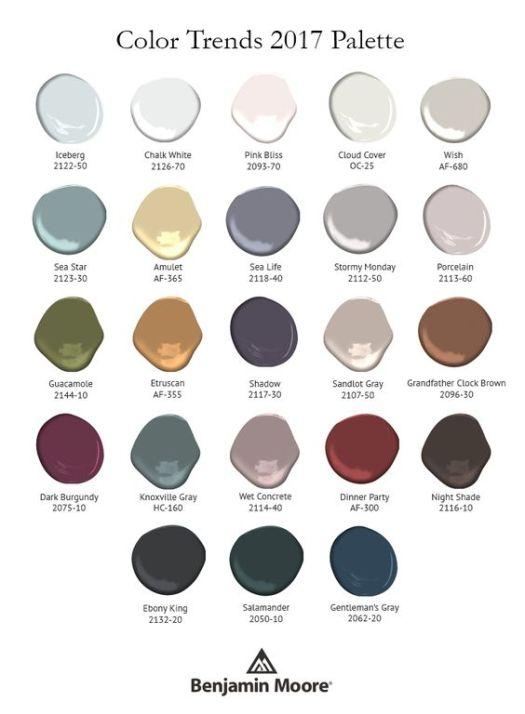 Benjamin Moore 2017 Palette | KitchAnn Style